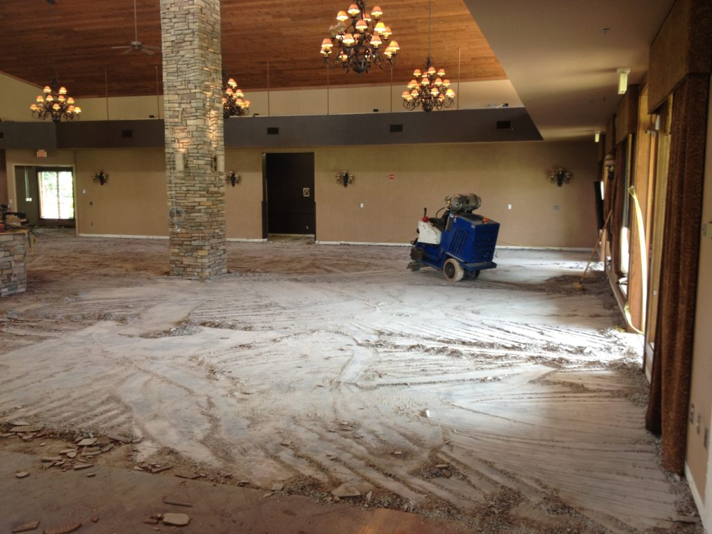 Ceramic tile removal ez out floor removal we use ride on state of the art removal equipment to remove ceramic tile and many other types of tile and thin set when we are finished the slab is dailygadgetfo Images